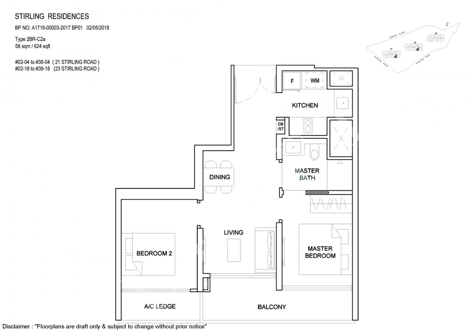 Stirling Residences Floorplan