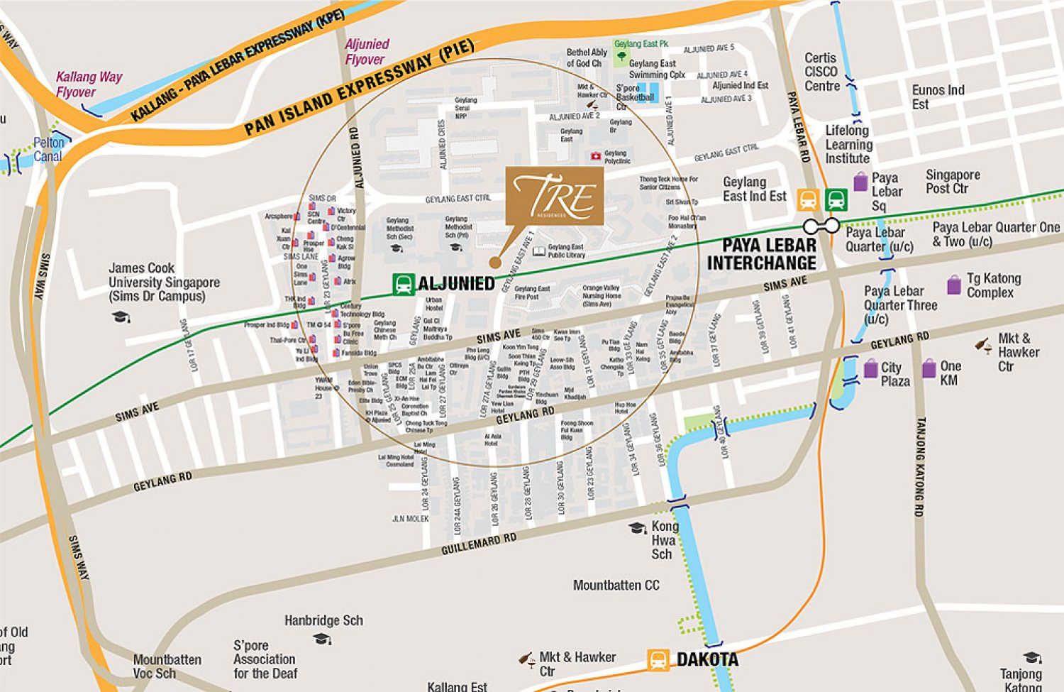 TRE Residences Map