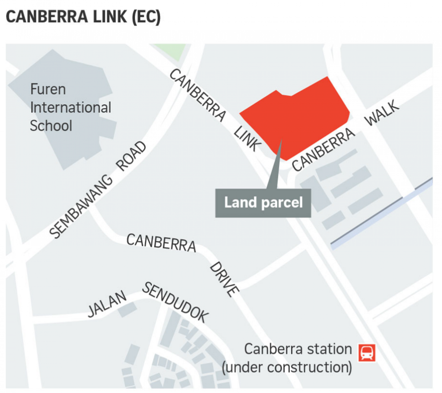 New EC at Canberra Link Map