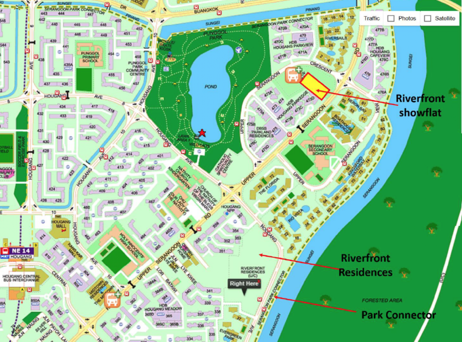 Riverfront Residences Map