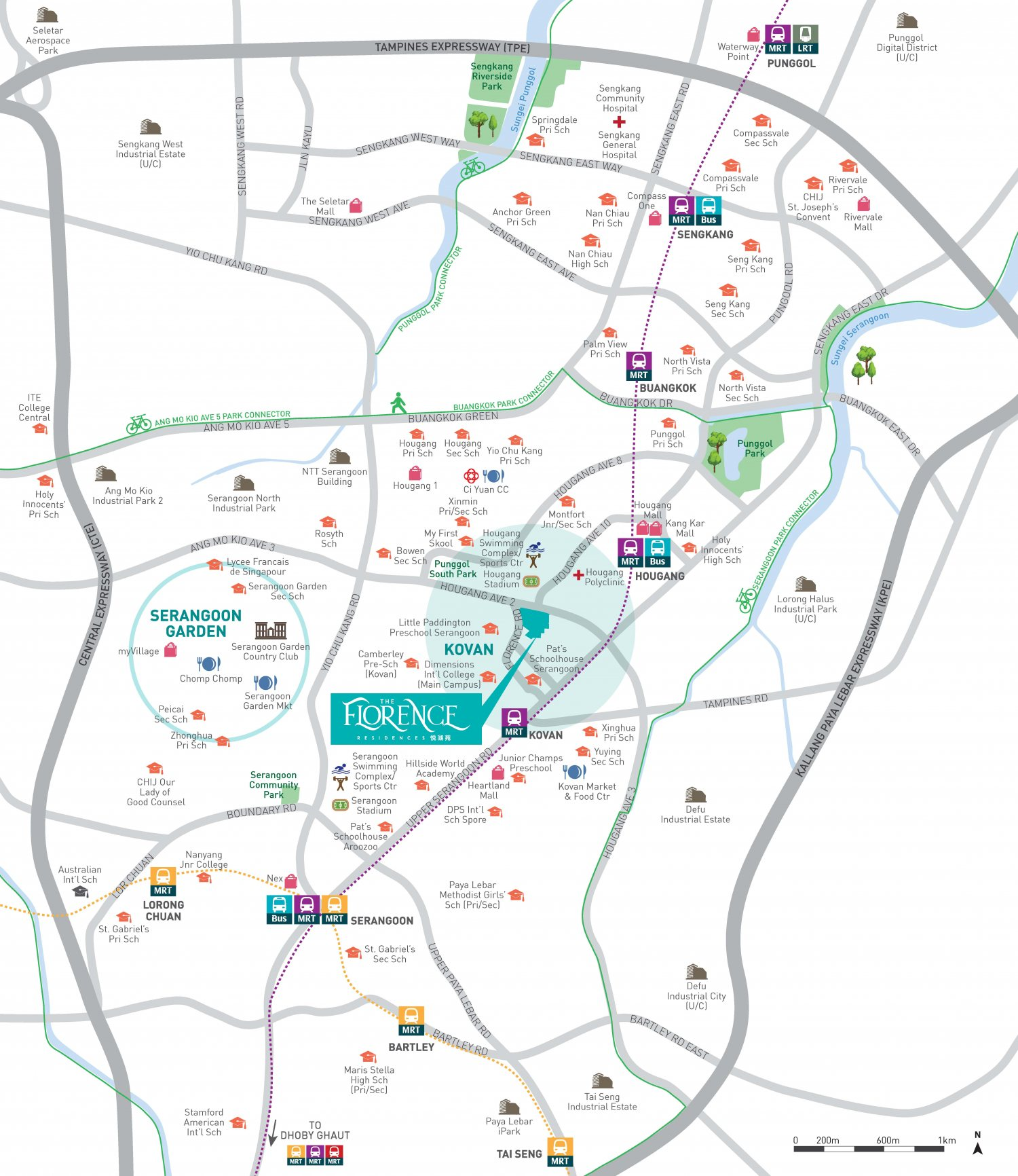 The Florence Residences Map
