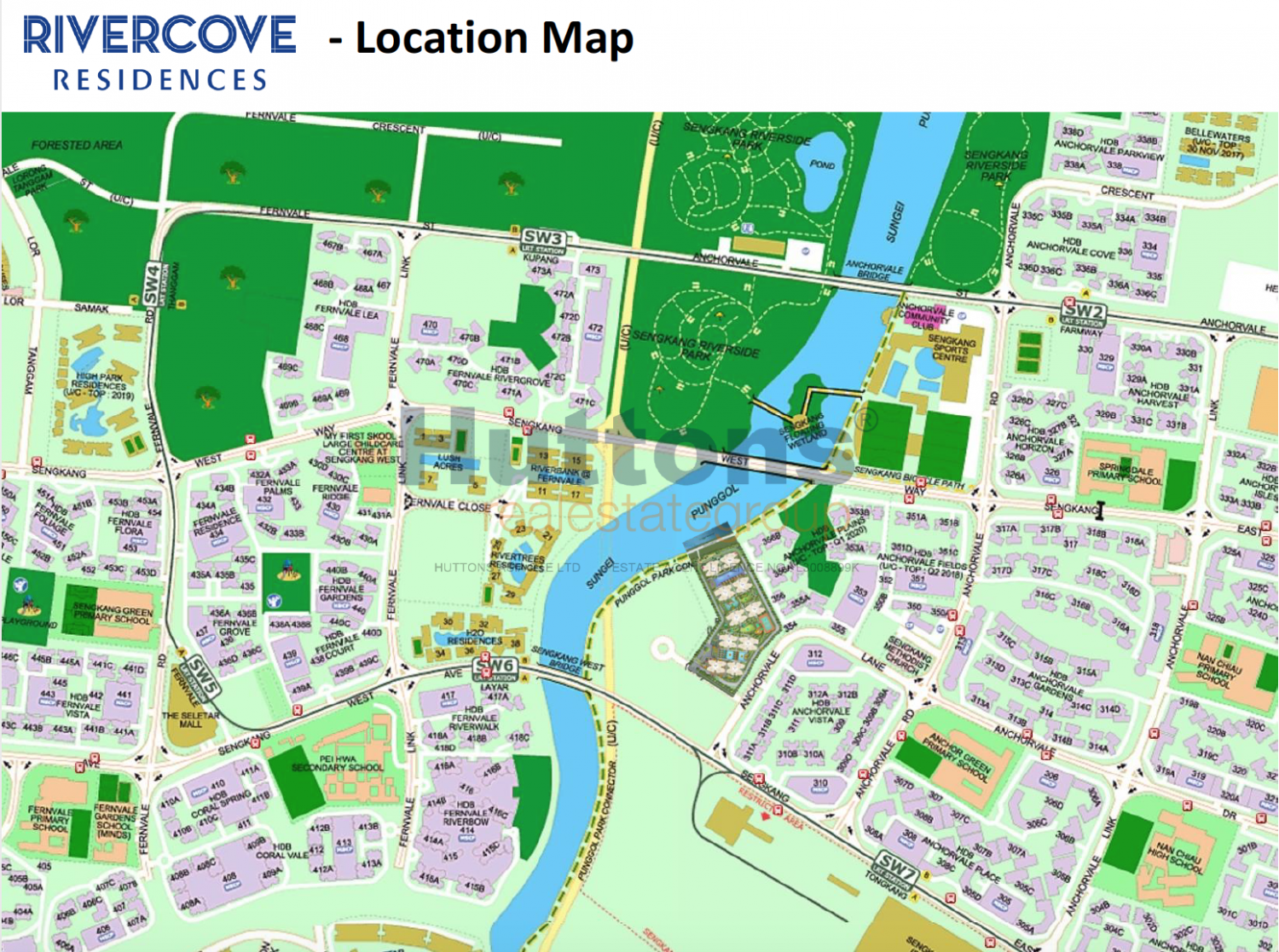 Rivercove Residences Map
