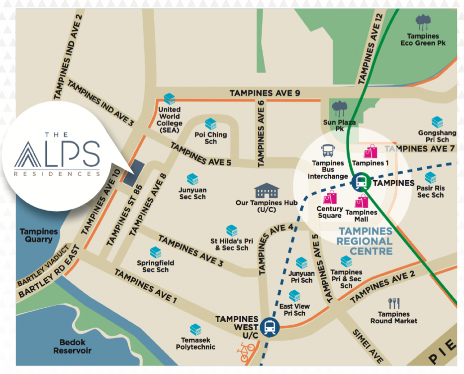 The Alps Residences Map